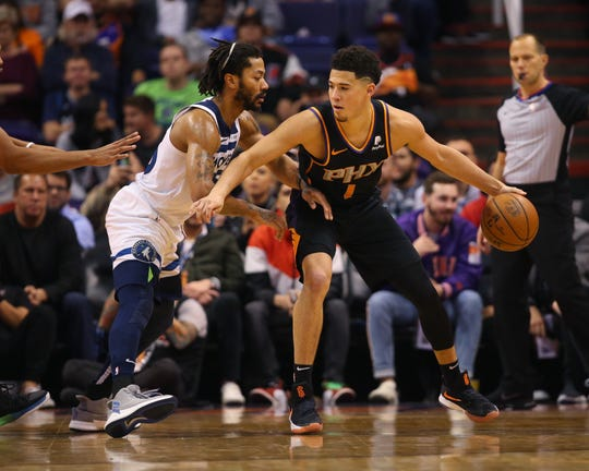 Phoenix Suns guard Devin Booker needs a point guard. Could Derrick Rose be the answer in NBA free agency?