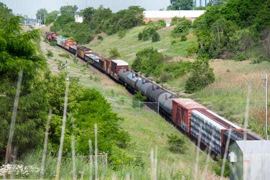 Crews are on the scene of a train derailment in the international tunnel in Port Huron Friday, June 28, 2019.