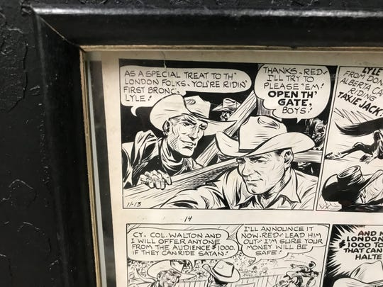 Lyle Smith was featured in the comic strip 'Red Rider' in the 1950s.