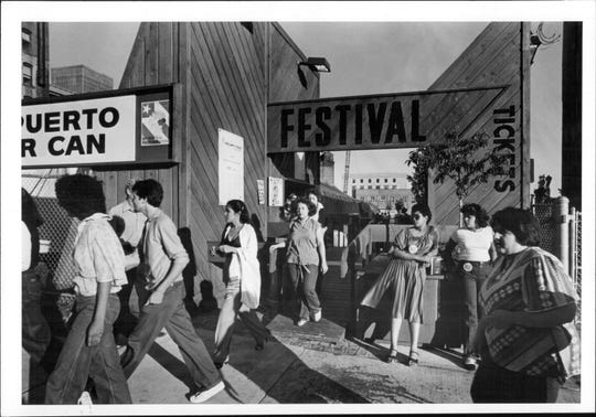 The main entrance to the 1979 Puerto Rican Festival.