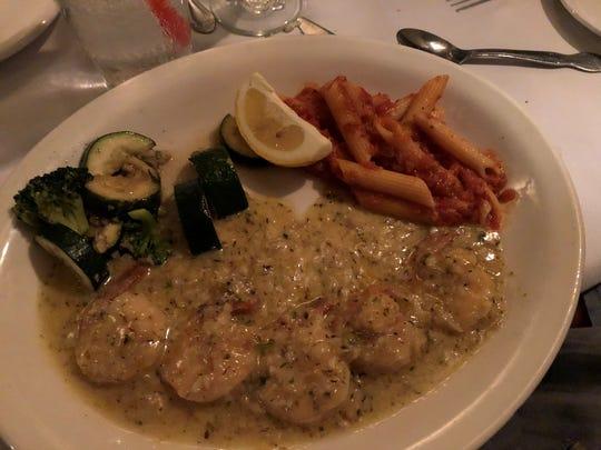 The popular scampi della casa, a house specialty at Nello's Italian restaurant in east Redding.