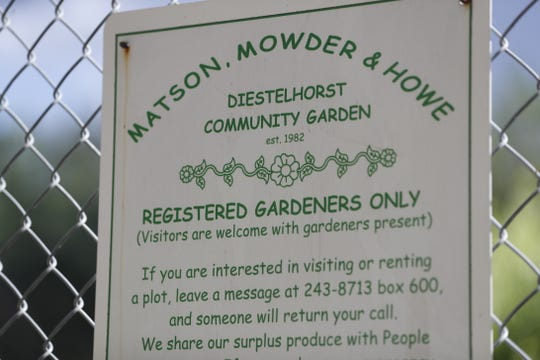 Michele Driggs spearheaded the Matson/Mowder/Howe Community Garden project before it was dedicated in 2006.