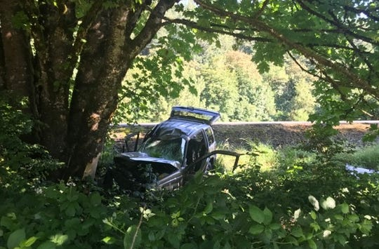 A man was transported following a crash on Highway 22 near Mehama on Friday, June 28.