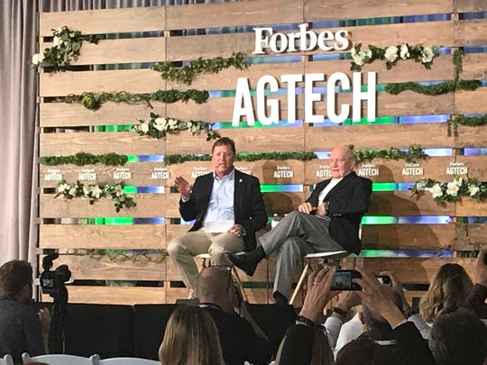 Forbes CEO Mike Federle and Secretary of Agriculture Sonny Perdue in conversation at the 2019 Forbes AgTech Summit in Salinas. June 27, 2019.