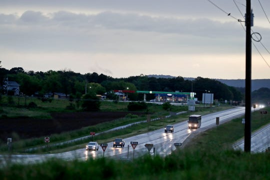 Weather breaks up along state Highway 23 on Thursday near Plymouth.