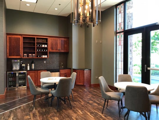 The new, no-cost coworking space inside the First Bank & Trust location at 2300 W. 57th St. in Sioux Falls includes free coffee and Wi-Fi.
