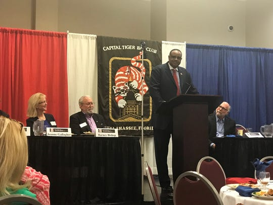 U.S. Rep. Al Lawson addresses Friday's Capital Tiger Bay Club luncheon. He talked his key takeaways from the 2019 session, which included criminal justice reform, affordable health care and disaster relief.