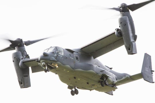 Blountstown Fire Chief Ben Hall snapped these photos of the CV-22 Osprey in Blountstown about six years ago. They've been semi-regular visitors since then.