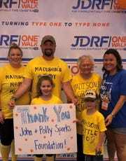 The John & Polly Sparks Foundation recently granted $35,000 in support of the JDRF mission.