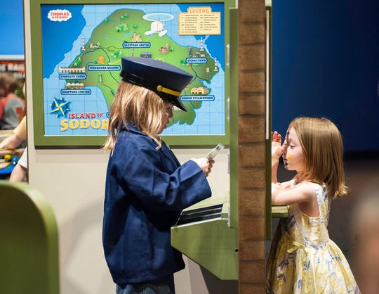 Children enjoy the THOMAS & FRIENDS: EXPLORE THE RAILS exhibit.