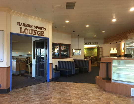 A sports bar and banquet room are seen at the Ventura location of Carrows restaurant. Its doors closed this week after more than 30 years of business at 2401 E. Harbor Blvd.