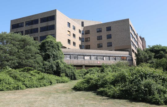 . The exterior of the old United Hospital on Boston Post Road in Port Chester, July 12, 2018.