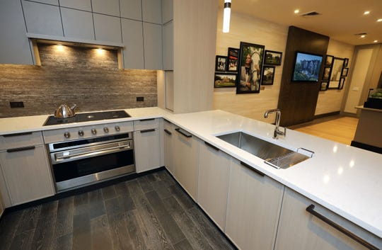 A model kitchen for the St. Regis Residences being constructed in Rye, was constructed in the sales gallery, as pictured June 28, 2019.