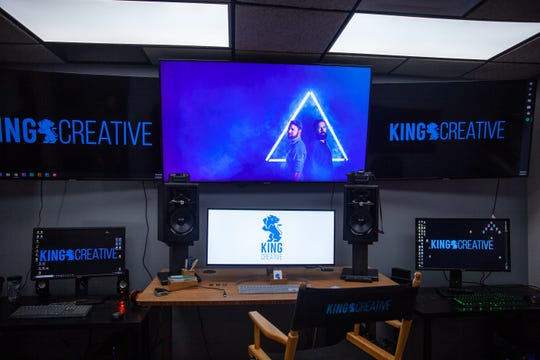 A view inside King Creative's post-production space. King Creative celebrated its grand opening on Thursday June 27 in downtown Wilmington.