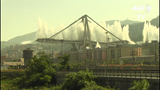 The remaining towers of the bridge in Genoa that collapsed nearly a year ago killing 43 people were demolished.