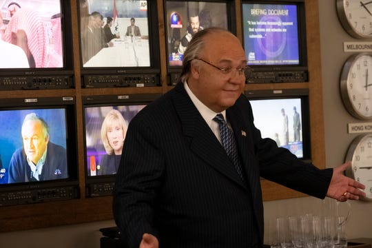 Russell Crowe plays Fox News chief Roger Ailes in Showtime's 'The Loudest Voice.'