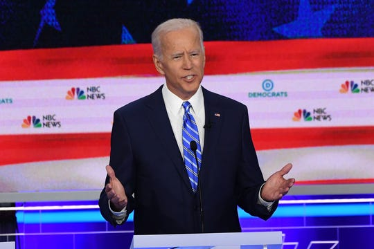 Former Vice President Joseph Biden speaks during the second Democratic primary debate in Miami on June 27, 2019.