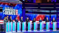 Democratic presidential hopefuls participate in the second Democratic primary debate in Miami on June 27, 2019.