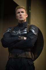 "Chris Evans in ""Captain America: The Winter Soldier."""