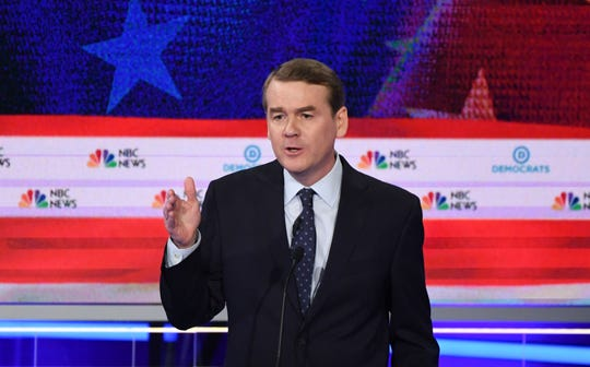 Former Colorado Sen. Michael Bennet speaks during the second Democratic primary debate in Miami on June 27, 2019.
