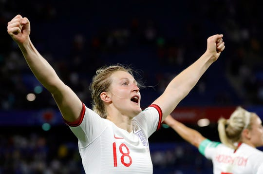 England forward Ellen White has five scored goals in the World Cup.