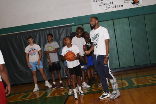 Former Peabody Magnet High School basketball player Markel Brown hosted his annual basketball camp Friday, June 28, 2019 at the Emerald Palace. Brown played for Oklahoma State University and was drafted by the Minnesota Timberwolves and traded to the Brooklyn Nets. Brown is currently with Darussafka, a Turkish team with the Euroleague.