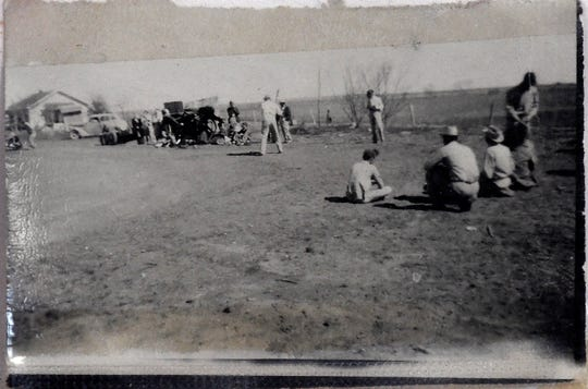 Shep residents play baseball in this undated photograph at the Shop Community Center. Baseball and croquet were the big sports in Shep during its heyday in the first half of the 20th century according to attendees of the Shep Homecoming June 22,