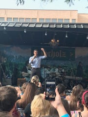 Beto O'Rourke at a campaign rally at Austin's Scholz Garten, June 27, 2019.