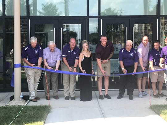 The Panther Fitness Center opened with a ribbon-cutting ceremony at Elder High School on Saturday, June 29, 2019.