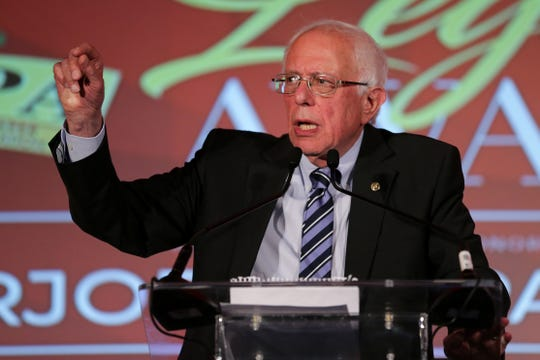 U.S. Late. Bernie Sanders Delivers Remarks, Friday, June 28, 2019, during the 2019 National Newspapers Publishers Association at the Westin Hotel in Cincinnati.