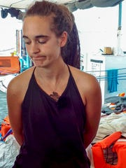 Sea-Watch 3 captain Carola Rackete.