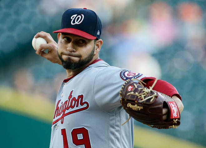 Nationals starter and former Tiger Anibal Sanchez gave up one run and struck out eight in six innings on Friday.