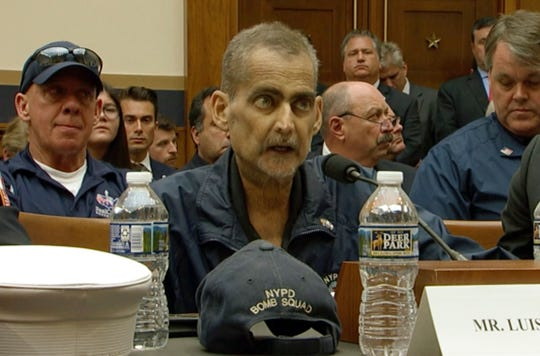 Retired NYPD Detective and 9/11 Responder, Luis Alvarez speaks during a hearing by the House Judiciary Committee on Capitol Hill in Washington, Tuesday, June 11, 2019.