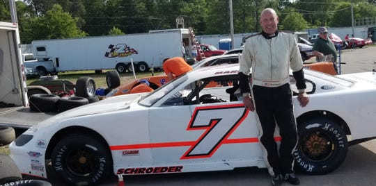 Green Bay's Mark Schroeder is enjoying racing again at Norway (Michigan) Speedway after a three-year hiatus. The 55-year-old former track champion at Norway and at WIR in Kaukauna is one of the entrants in the 36th annual Stateline Challenge at the third-mile, paved oval on Friday.