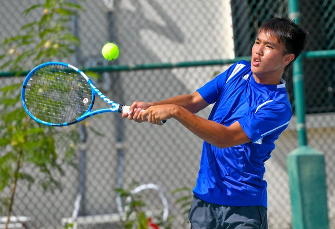 Guam's Camden Camacho, shown in this file photo from June 2019, was victorious twice during Davis Cup tournament action in Amman, Jordan. Camacho won his singles match, and teamed with Derek Okuhama for a doubles victory, taking two of three Guam matches and the overall win against Mongolia. The event runs from Sept. 11-14 in Jordan.