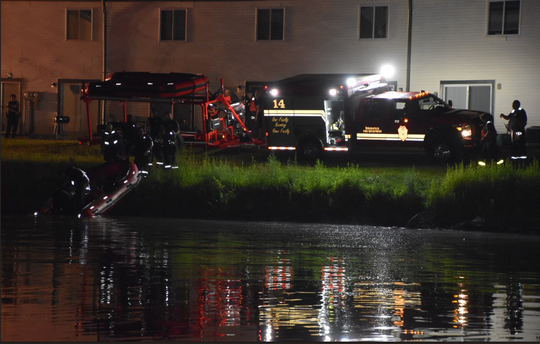 Indianapolis Fire Department pulls a male out of the water early Saturday morning. He was pronounced dead at the scene.