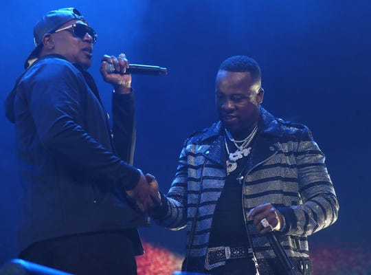 Master P and Yo Gotti at the Yo Gotti & Friends Birthday Bash on Friday, June 26, 2019 at FedExForum in Memphis.