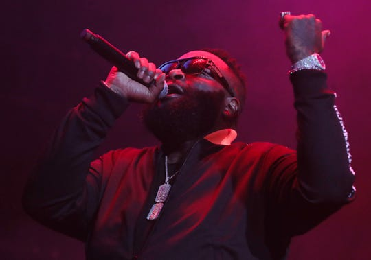 Rick Ross performs at the Yo Gotti & Friends Birthday Bash on Friday, June 26, 2019 at FedExForum in Memphis.