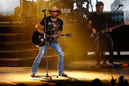 Jason Aldean headlines the American Family Insurance Amphitheater at Summerfest on June 28, 2019.