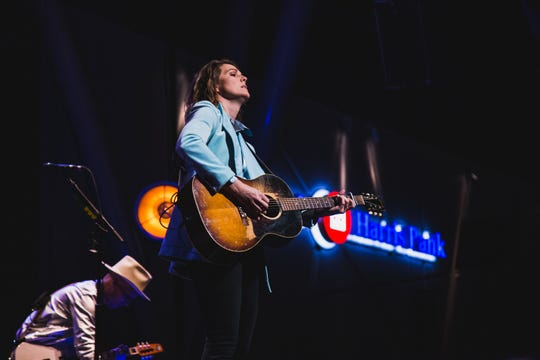 Brandi Carlile performs at the BMO Harris Pavilion on June 28, 2019.