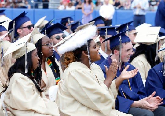 Scenes from the Beacon High School graduation ceremony at Dutchess Stadium in Fishkill on June 29, 2019.