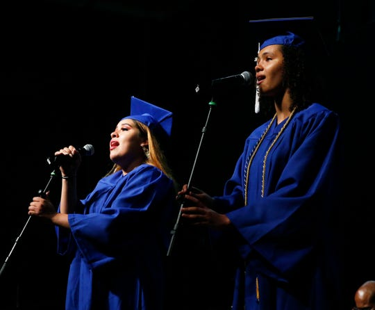Scenes from the Poughkeepsie High School graduation at the Majed J. Nesheiwat Convention Center on June 28, 2019.