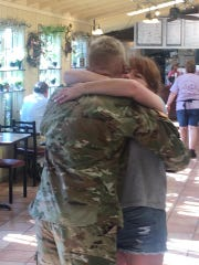 An emotional moment was captured Saturday morning in York County when a soldier returned to surprise his mom with a hug.