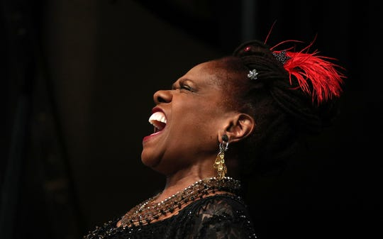 Catherine Russell performs at the Temple Building Theater during the CGI Rochester International Jazz Festival.