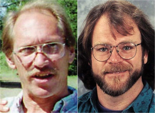 Gary Matson, left, and Winfield Mowder were murdered on July 1, 1999, in their Happy Valley home. The men had been a couple for 14 years before their death, according to Record Searchlight archives.