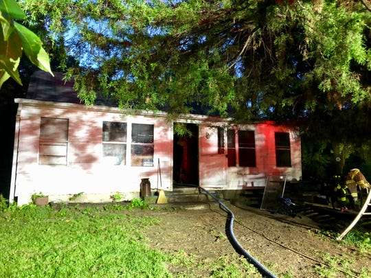 A house fire in Swoope displaced a woman and her two children June 28, 2019.