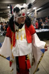 Jefferson Slosek dressed as the Ying Yang Master for Infinity Con at Tucker Civic Center Saturday, June 29, 2019.