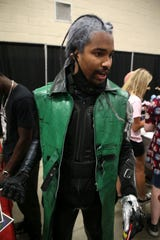 William-Amir Stevens talks about how he put together his Monak Tokami costume with many purchases from Amazon. Stevens attended Infinity Con at Tucker Civic Center Saturday, June 29, 2019.