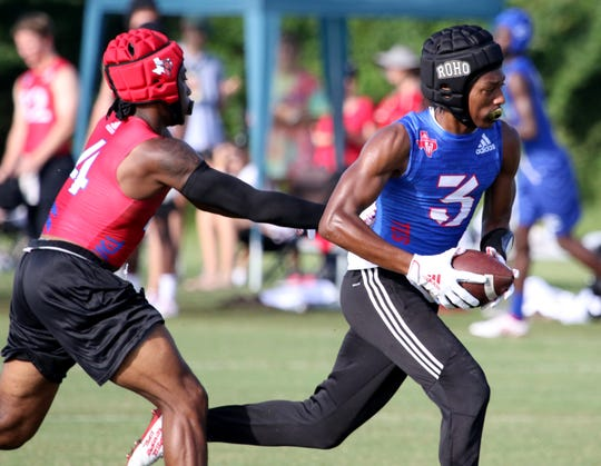 Rider fell to Cedar Hill 33-13 in the Texas State 7on7 Championships Saturday, June 29, 2019, at Veterans Park and Athletic Complex in College Station.