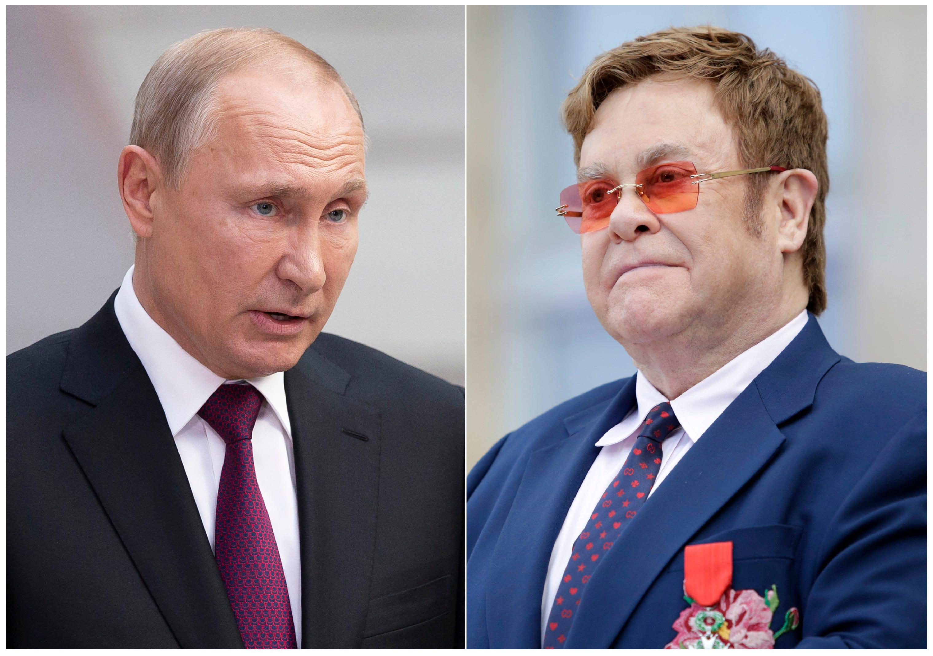Image result for Elton John Responds to Vladimir Putin's Comments on LGBTQ Rights After 'Rocketman' Censorship